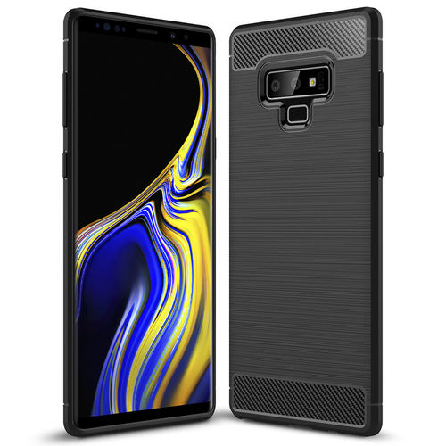 Flexi Carbon Fibre Tough Case for Samsung Galaxy Note 9 - Black